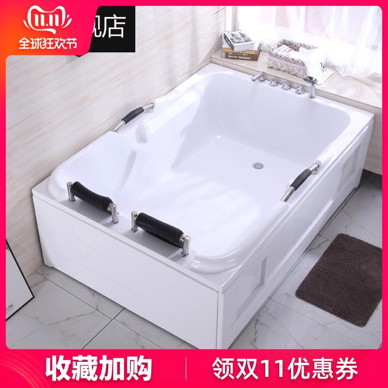 亚克力双人浴缸成人情侣超大浴缸酒店池家用豪华欧式按摩恒温情趣