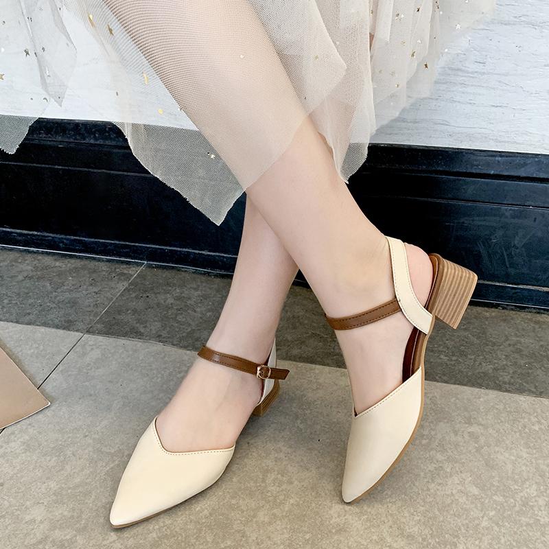 凉鞋女一字带平底仙女风简约2019夏新款韩版低跟学生平跟晚晚女鞋