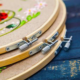 刺绣竹绣绷十字绣小件绣花撑子工具配件圈绷子固定圈圆形架子苏绣