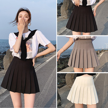 黑色百褶hz1女夏款半fz色高腰a字2021新款(小)个子灰色jk短裙