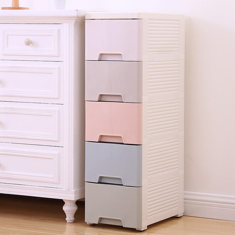 20/25/37cm宽夹缝收纳柜抽屉式卫生间塑料储物柜子窄缝厨房置物架