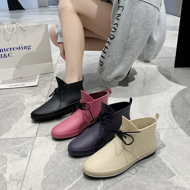 韩版时尚雨鞋女短筒雨靴低帮水鞋买菜防水厨房胶鞋防滑餐厅工作鞋