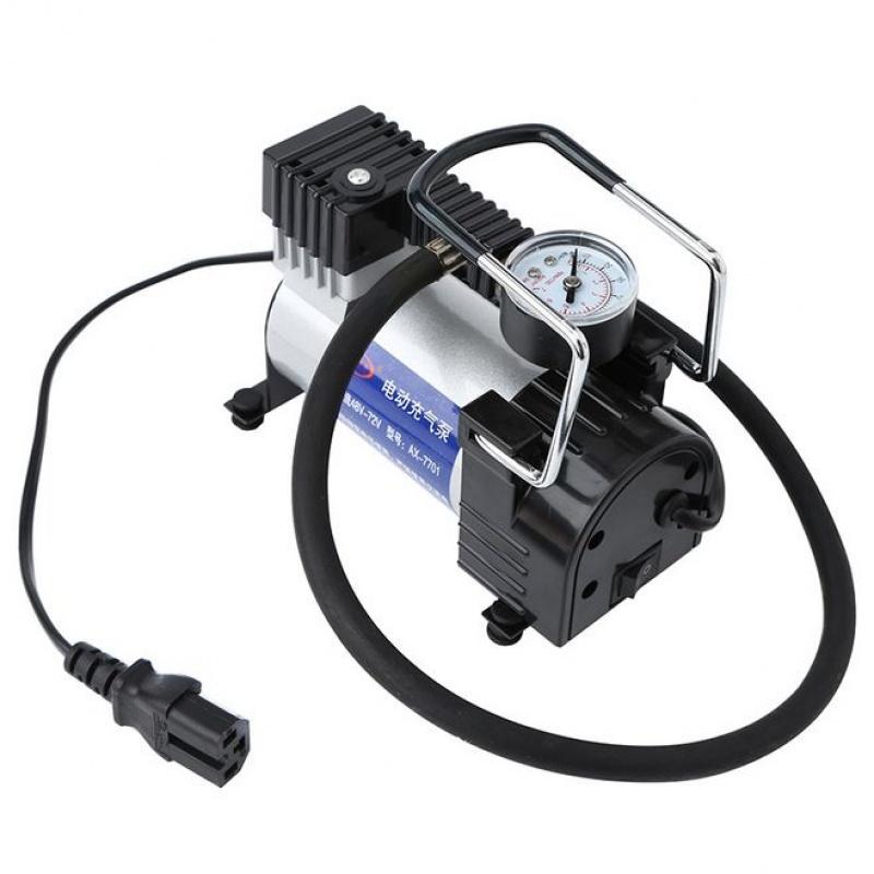【电动车充气泵】便携式汽车电瓶车打气筒 电动轮胎打气泵 48-72V