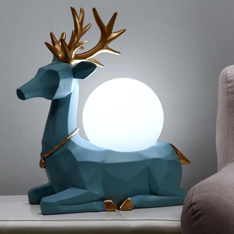 创意北欧式台灯床头灯现代简约卧室温馨浪漫美式创意装饰个性灯具