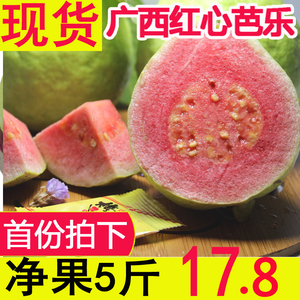 Guangxi red heart guava red heart guava pregnant woman fruit guava red meat guava fresh fruit 5 kg