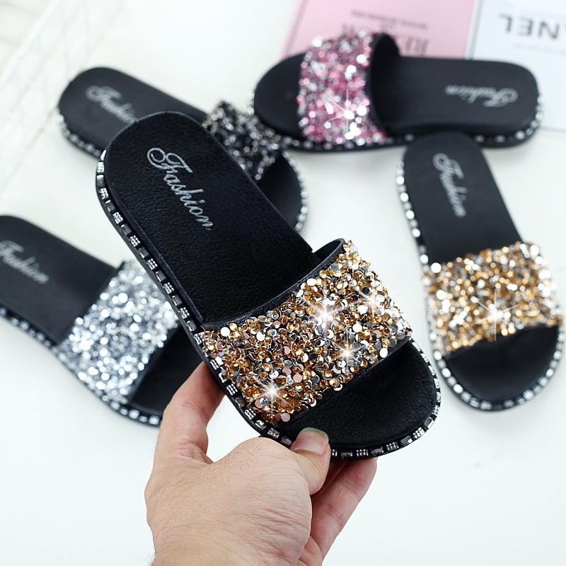 。女童拖鞋新款夏季亲子儿童拖鞋女孩可爱时尚小公主防滑外穿凉拖