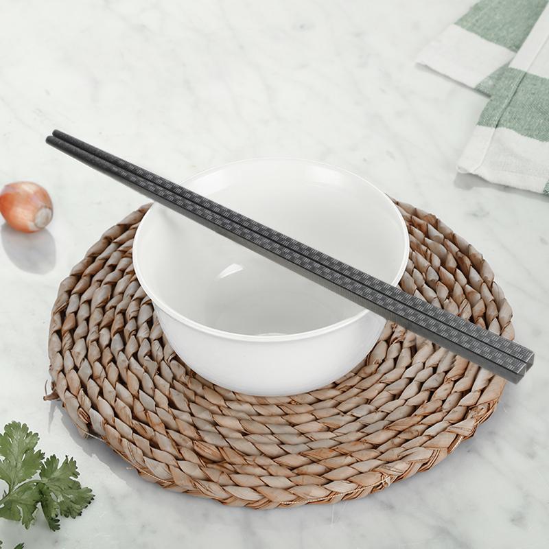 炊大皇家用筷子合金筷子防霉耐温厨房非实木防滑快子10双装高档