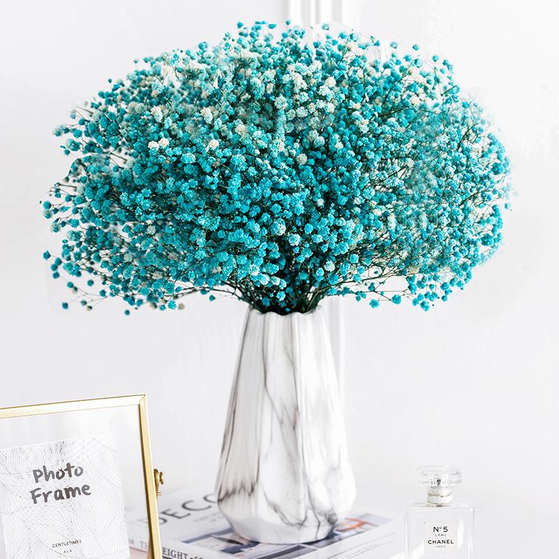 满天星干花花瓶北欧创意客厅电视柜简约插花装饰花束带瓶陶瓷摆件