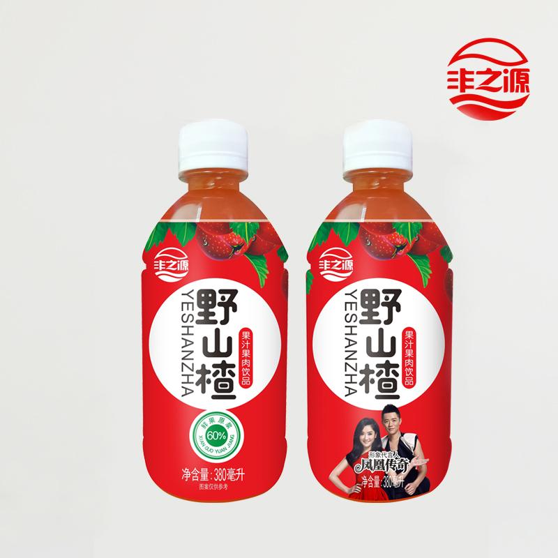 丰之源野山楂饮料整箱380mlx4瓶健胃消食浓缩果蔬汁山楂汁包邮