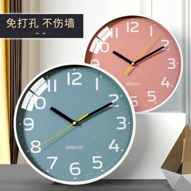 钟表客厅家用创意挂钟现代简约时尚小时钟个性艺术静音北欧石英钟