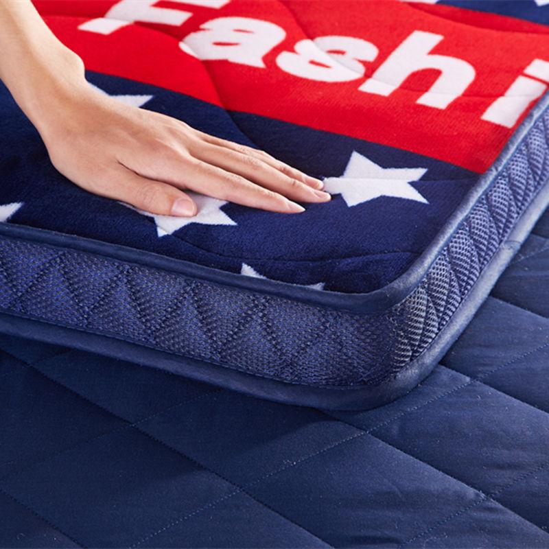 加厚床垫1.5米床垫子双人1.8米可折叠学生宿舍单人床褥榻榻米地垫满110元减100元