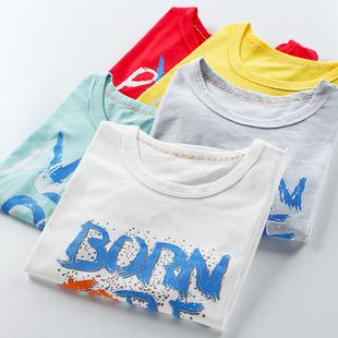 儿童短袖T恤男童夏装新款童装中大童宽松女童纯棉小孩韩版半袖t潮图片