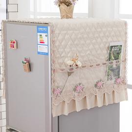曼本冰箱盖布防尘布冰箱罩防尘罩防水防油单开门双开门冰箱顶盖巾