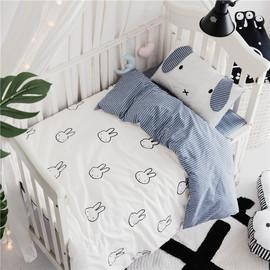 婴童全棉床上用品床单被套多件套宝宝纯棉婴儿床套件四季款可定做