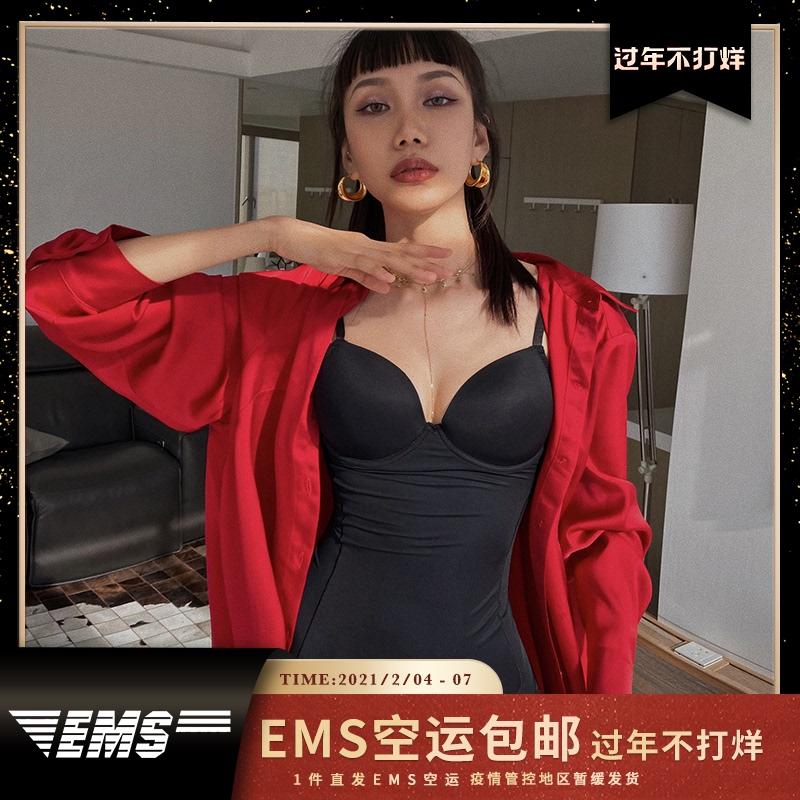 瘦身衣女 收腹 束腰连体内衣塑身衣薄款大胸显小文胸塑形美体胸罩