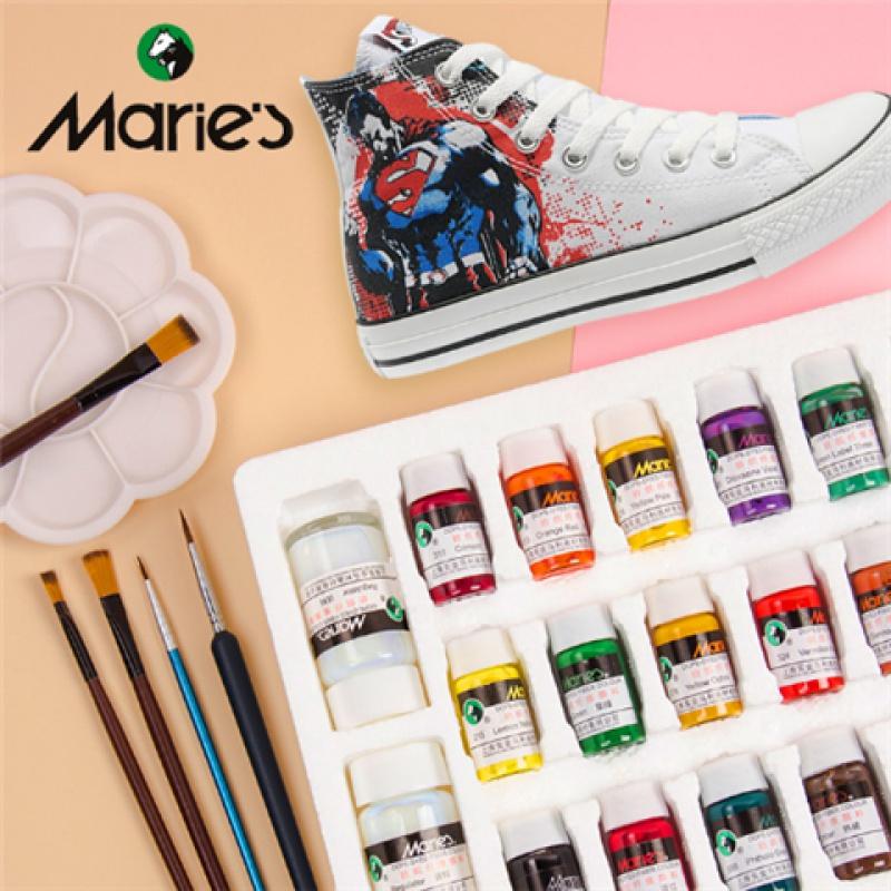 纺织纤维颜料手绘鞋子涂鸦球鞋改色diy石头染料衣服T恤丙烯颜料
