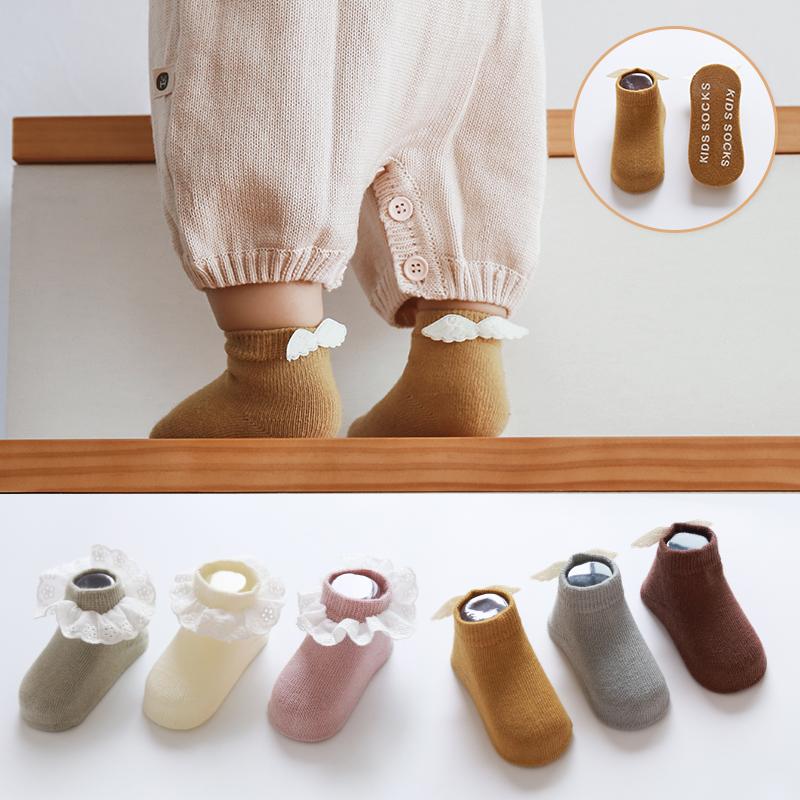 新生婴儿袜子0-3月春秋冬纯棉0-1-3岁宝宝防滑地板袜学步袜男女童