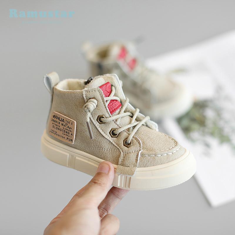 宝宝板鞋儿童运动鞋2019冬季加绒女童鞋子0一1-2-3岁婴儿学步鞋男