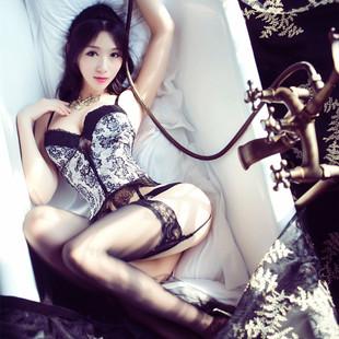 性感情趣内衣蕾丝透视装露乳激情套装sm小胸制服诱惑女