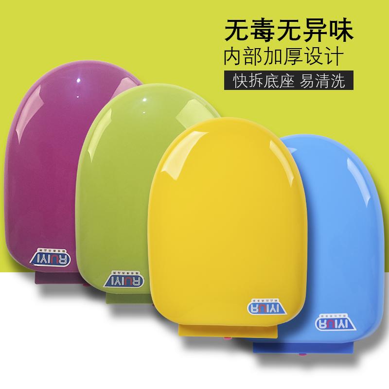 彩色马桶盖家用通用老式配件V型U型抽水座便坐便器盖子加厚厕所板