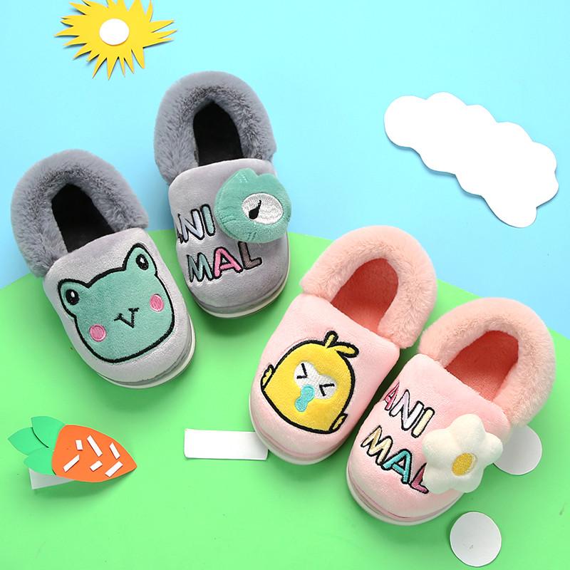 儿童拖鞋秋冬季保暖卡通宝宝室内居家棉拖鞋防滑男童女童小孩拖鞋
