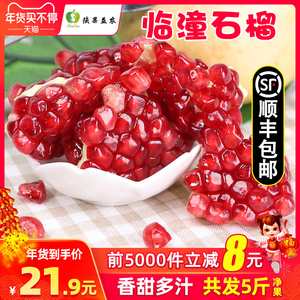 Shaanxi Lintong Sweet Pomegranate Red Seed Seasonal Pregnant Woman Fruit Pomegranate Fruit Fresh