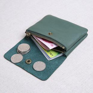 真皮迷你小钱包女短款牛皮搭扣皮夹子小清新学生卡包男零钱包硬币