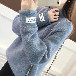 韩版女装高领很仙的女士毛衣2020年新款春装宽松外穿内搭打底衫女