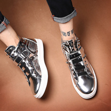 。 Europe station GZ men's shoes hairdresser personalized shoes trend CL night club British high top rivet fashion brand hip hop shoes