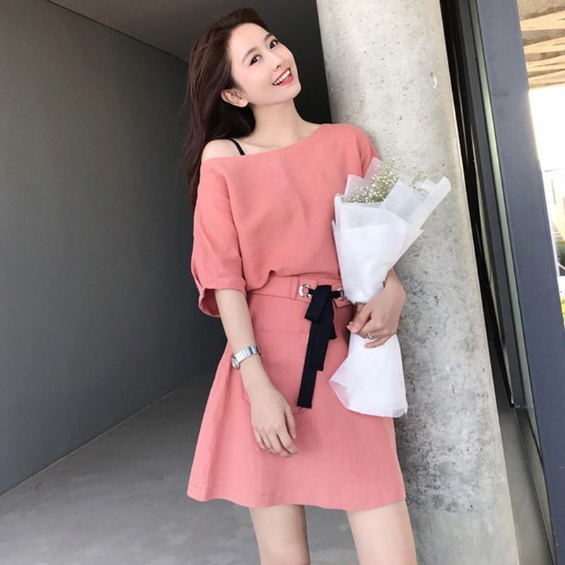 连衣裙女夏天2019新款流行收腰显瘦气质甜美女士裙子仙女超仙森系