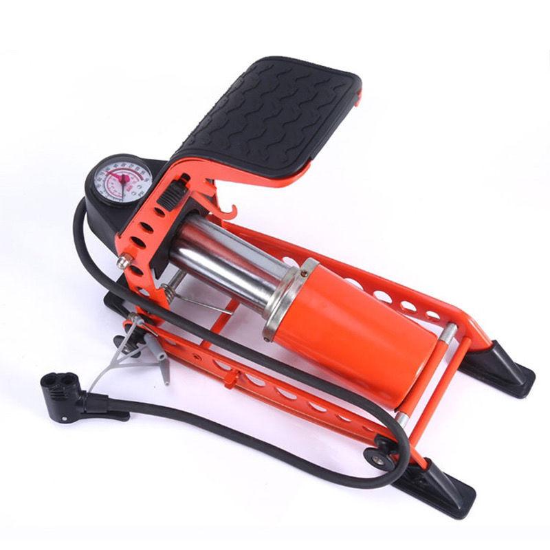 脚踩打气筒低压高压车载汽车充气泵自行车摩托车电瓶车