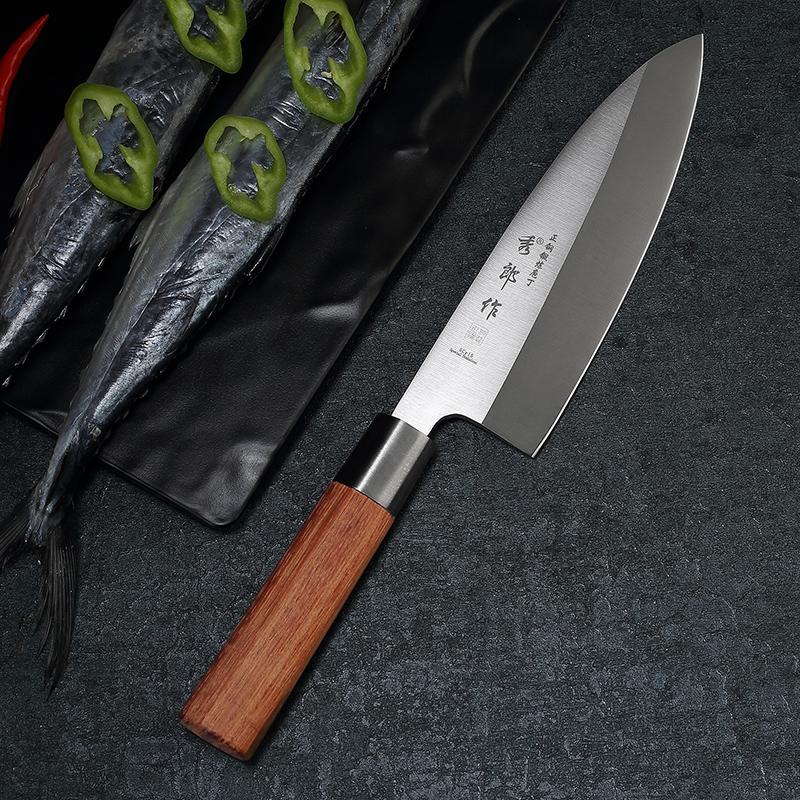 日式鱼头刀三文鱼刺身刀专业鱼生专用开鱼杀鱼刀锋利寿司料理刀具