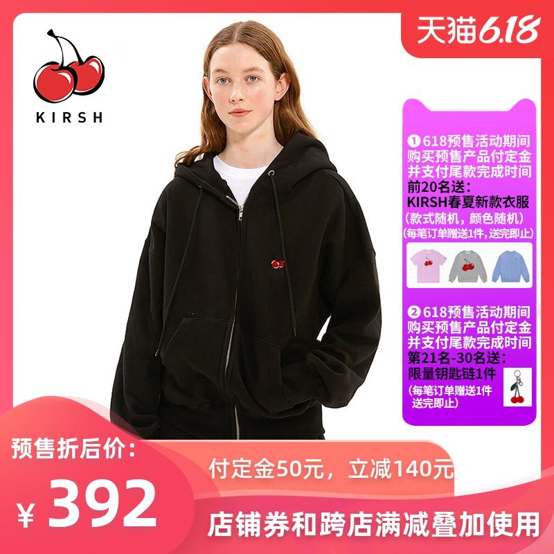 【618预售】20年春新款kirsh大樱桃卫衣外套学院风少女连帽时尚韩