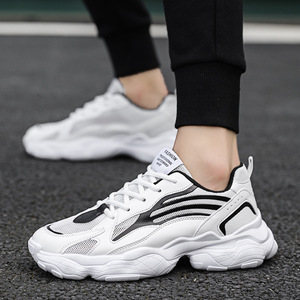 2019 new shoes breathable student men's shoes casual shoes trend net surface father shoes increase running sneakers men
