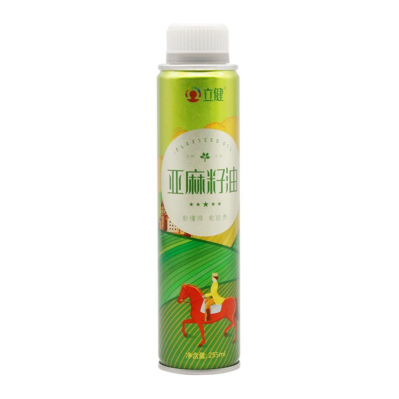 立健亚麻籽油一级婴儿食用油冷榨纯宝宝辅食吃孕妇月子油255ml