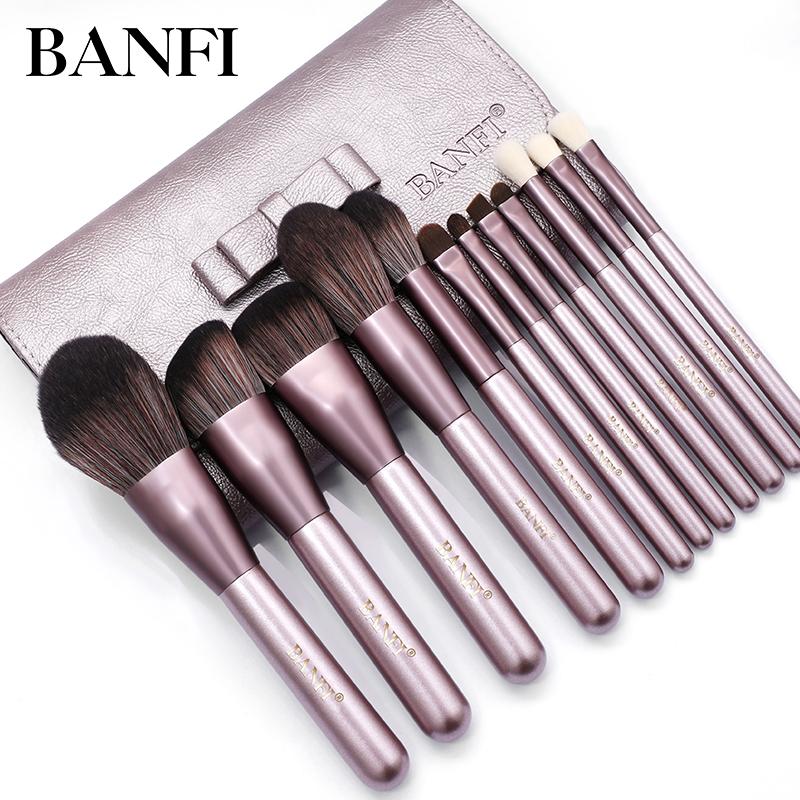 BANFI/邦菲化妆刷套装12支小葡萄美妆刷全套超柔软粉底眼影散粉刷
