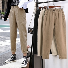 Spring women's loose casual pants students' high waist pants