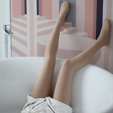 Wang Xiaodu bare leg artifact women's Velvet thickened flesh color bottomed pantyhose thin natural skin nude silk socks