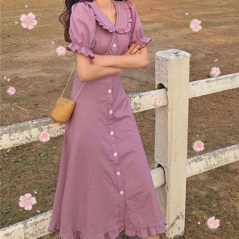新款夏季哺乳连衣裙辣妈产后哺乳装外出时尚喂奶期潮服中长款裙子
