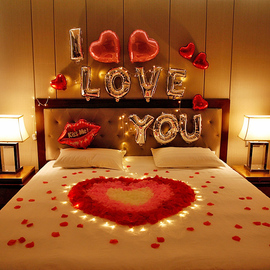 仿真玫瑰花瓣情人节浪漫求婚表白生日趴装饰制造浪漫惊喜房间布置