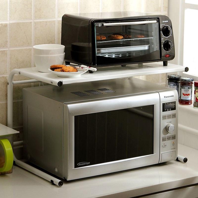 欧式铁艺微波炉架置物架电器托架 厨房2层烤箱架支架