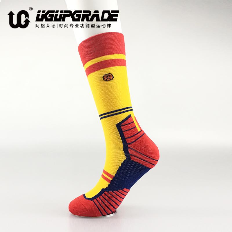 UG篮球袜男高帮袜子高筒中筒长袜专业加厚毛巾底跑步袜精英运动袜