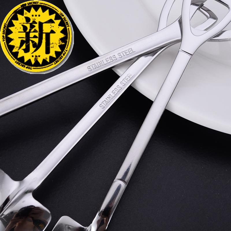 创意铁锹勺子不锈钢410咖a啡蜂蜜搅拌勺甜品勺子家用餐厅铁铲汤勺