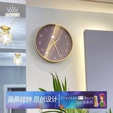 2021ge1款家用时xe墙时钟钟简约客厅钟表挂钟轻奢现代北欧