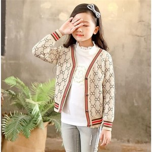 Boys and girls sweaters spring and autumn in the big children's children's clothing base baby baby knitted cardigan coat parent-child wear