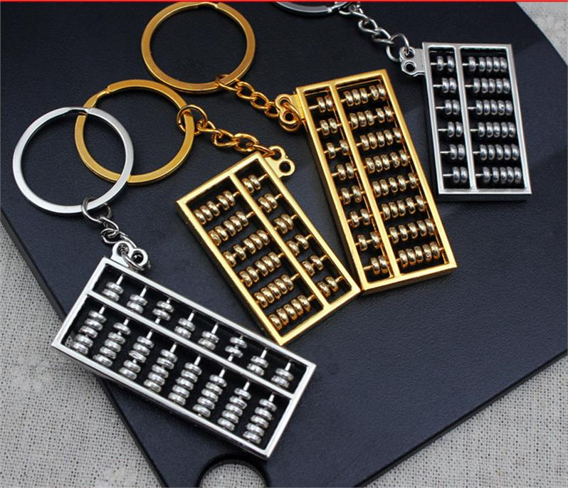 钥匙圈好运挂坠活动珠算盘吉祥如意情侣如意算盘钥匙扣挂件挂链