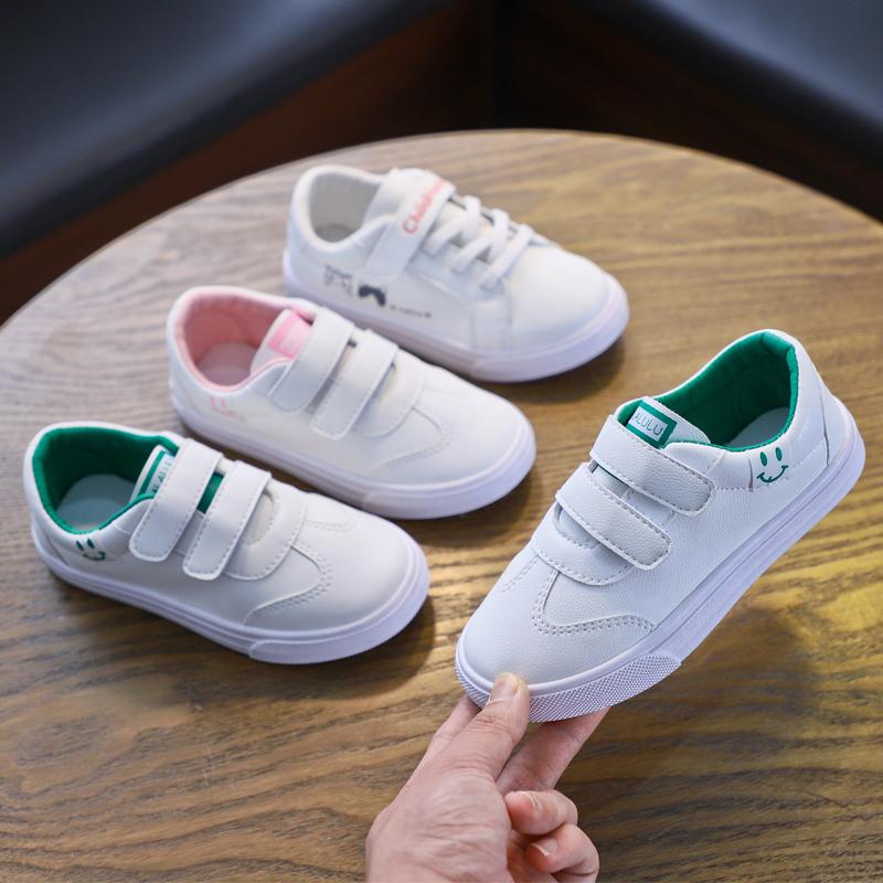 女童小白鞋春季儿童帆布鞋板鞋单鞋小学生板鞋童鞋女孩款春秋鞋子