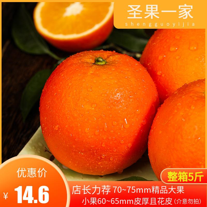 湖南正宗�~山脐橙 新宁新鲜水果皮薄橙子赛赣南橙手剥香橙整箱5斤