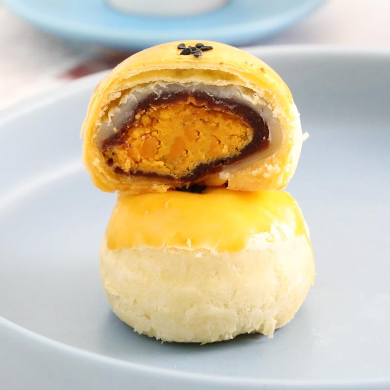 红林蛋黄酥6枚装 雪媚娘海鸭蛋手工麻薯糕点早餐网红小吃零食点心