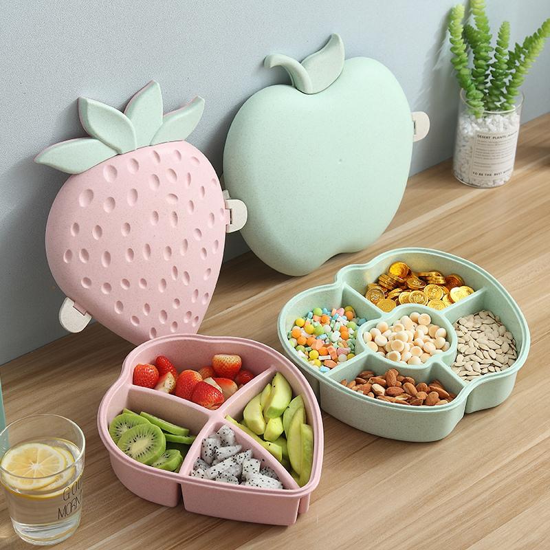 北欧果盘家用创意现代客厅茶几干果瓜子盘收纳盒塑料零食盘糖果盒
